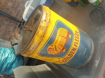 Vintage Shell 5 Gallons Oil Drum
