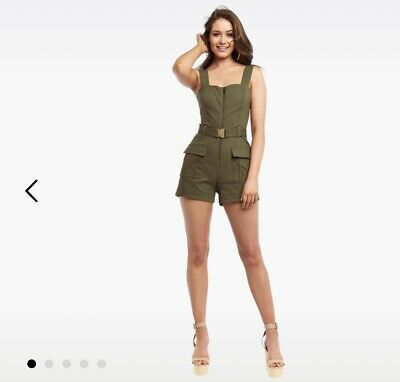 Bardot Buckle Short Playsuit