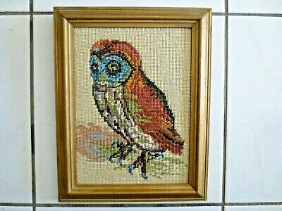 Tapestry Picture Completed & Framed Owl