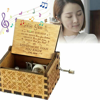 Wooden Music Box Mom To Daughter -You Are My -Sunshine Engraved Toy Kid Gifts AU