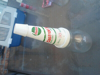 Castrol Pint Oil Bottle With Top And Lid /Original