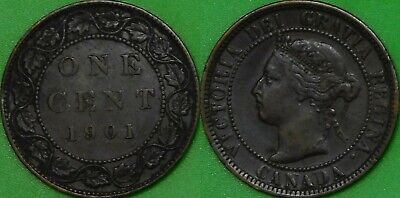 1901 Canada Large Penny Graded as Very Fine
