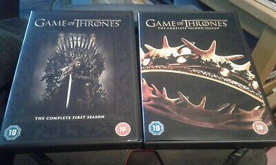 Game Of Thrones The Complete Season One And Two, 10 Disc Dvd Box Sets Reg 2