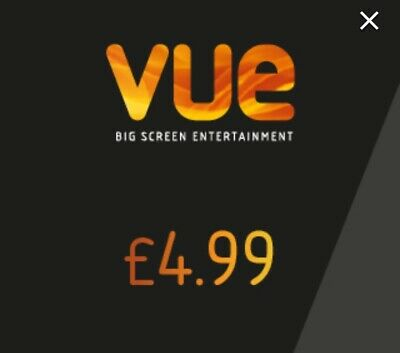 X3 VUE ANY Cinema Adult Tickets For £4.99 UK - Code To Buy Direct At MyVue.com