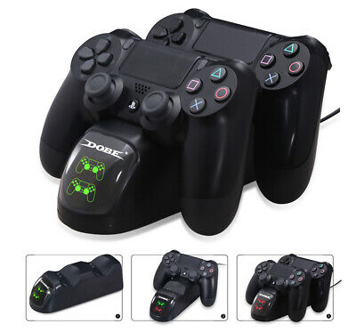 PS4 Twin Charger - Dual LED Ladestation für 2 Game Controller Playstation 4