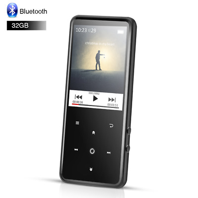 "AGPTEK Bluetooth MP3 Player 32GB HIFI Music FM Radio with 2.4"" TFT Screen Black"