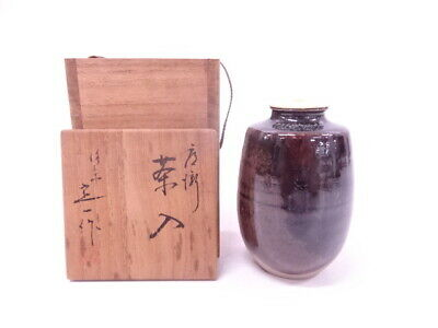 4256029: Japanese Tea Ceremony / Tea Caddy By Teiichi Oketani Katatsuki Cha-Ire
