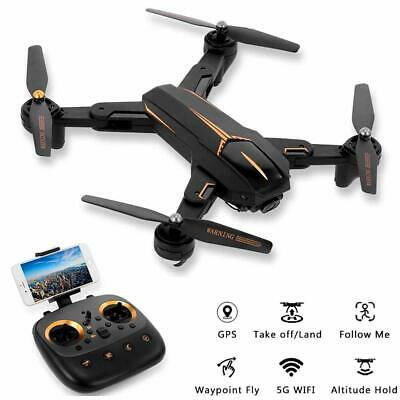 GPS FPV RC Drone with 1080P HD 5G WIFI P Camera Live Video Foldable Quadcopter