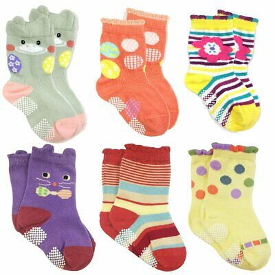 Wrapables Peek A Boo Animal Non-Skid Toddler Socks (Set, MultiColor, Size Large