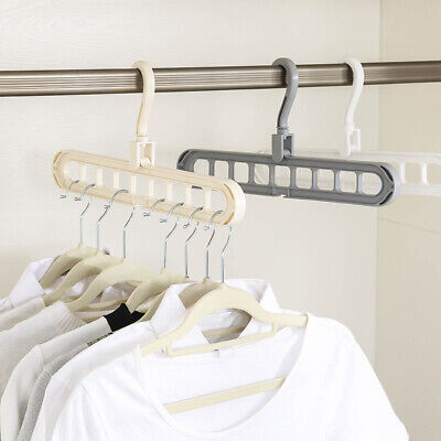 9 Holes Anti-skid Folding Hanger Portable Home Hanging Rack for Wet Dry Clothes