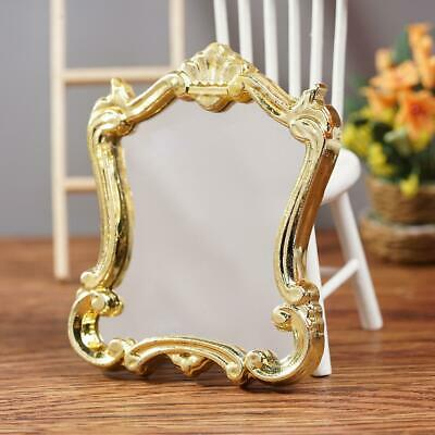 1:12 Miniature Dollhouse Furniture European Frame Mirror Dollhouse Accessories
