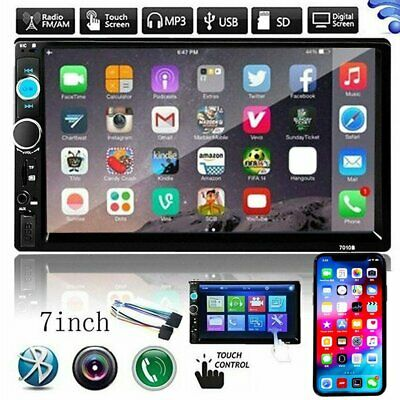 Bluetooth Car Radio Stereo 7 Inch Double 2DIN FM USB/MP5 Player Touch Screen UK
