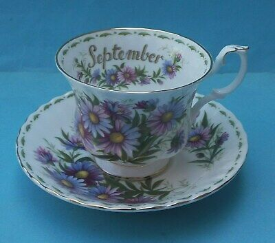 Bone China Royal Albert Flower Of The Month Cup & Saucer - September