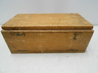 Vintage wooden box for holding microscope slides science