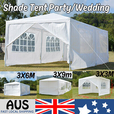 3x3m/6m/9m Party Wedding Marquee Event Tent Outdoor Shade Canopy Camping White