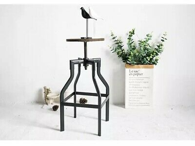 Vintage Metal Tolix Industrial Style Bar Kitchen Stool Dining Chair Wood Top SQ