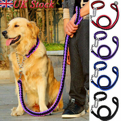 Strong Dog Pet Lead Leash Splitter Coupler with Clip Dag Chain Collar Harness UK
