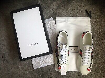 a0102159f Gucci Ace Embroidered Womens Glamour Trainers New In Box & With Seal