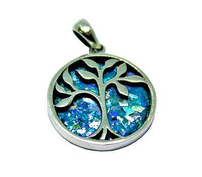 TREE OF LIFE | SILVER PENDANT WITH ROMAN GLASS - Sterling silver 925 -  3 sizes