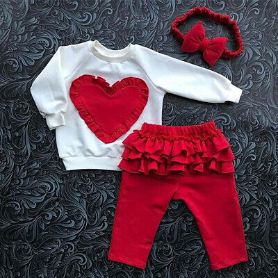 AU Toddler Baby Girl Clothes Sweatshirt Top Pants Infant Outfits Sets Tracksuit