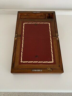 Beautiful Antique Wooden Writing Slope Lap Desk