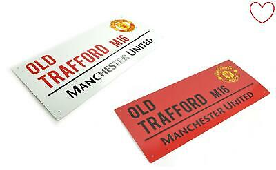 Street Sign Man United Old Trafford Wall Football Club Official Boys 3D