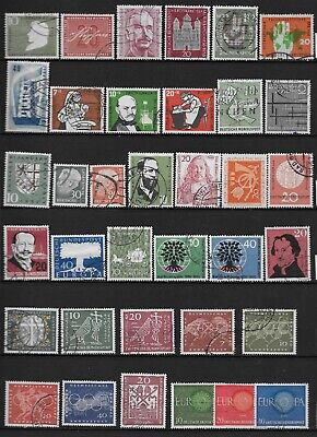 ALLEMAGNE RFA 1956/1960 LOT 36 TIMBRES DIFFERENTS COTE 55 EUROS beaux timbres