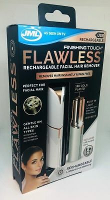 JML Finishing Touch Flawless Rechargeable Facial Hair Remover Discreet Epilator