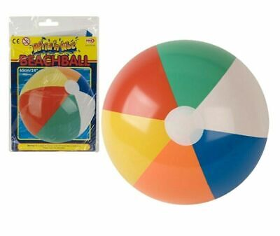 "24"" PANEL BEACH BALL Inflatable Blowup Swimming Holiday Party Garden Toy NEW UK"