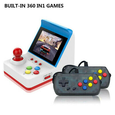 """Mini Arcade Game 3.0"""" Console Classic Handheld Video Games With 2 Controllers L"""