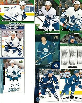 Mixed years mixed Companies Toronto Maple Leafs  12 card lot mixed.