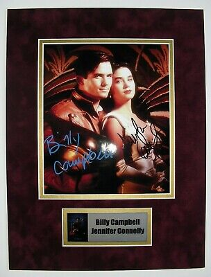 ROCKETEER photo signed by BILLY CAMPBELL & JENNIFER CONNELLY, COA. matted