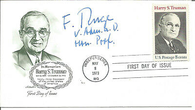 Friedrich Ruge signed First Day Cover In Memoriam President Harry S Truman Y730