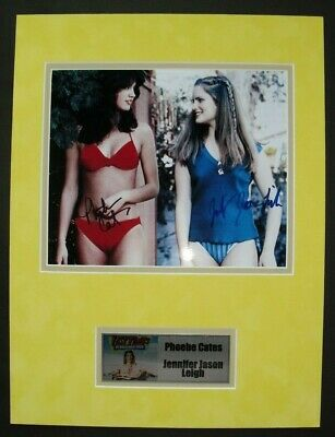 FAST TIMES RIDGEMONT HIGH photo signed PHOEBE CATES & JENNIFER JASON LEIGH, COA