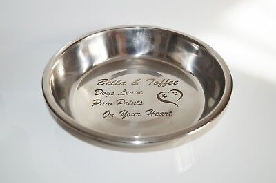 Personalised DOG Bowl Large, Stainless Steel - Free Engraving
