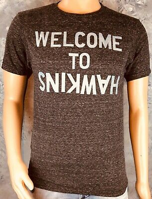 """Vintage Style STRANGER THINGS """"Welcome To Hawkins"""" Netflix TV Official S T-SHIRT"""