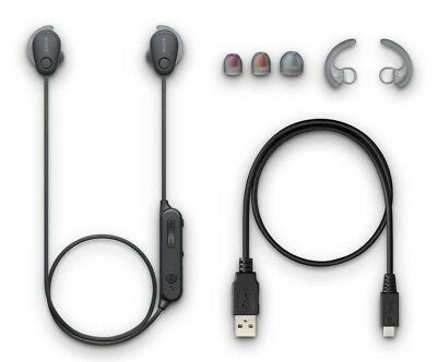 Sony WI-SP600N/B Sports Noise Canceling In-Ear WISP600N 6 HR BATT (Black)