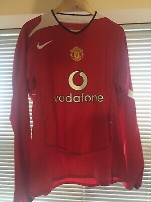 2004 2005 2006 Manchester United home long sleeve football shirt Xtra Large