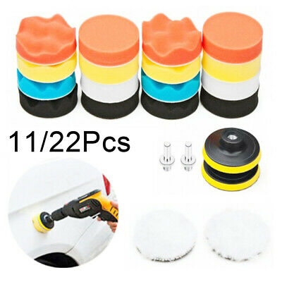 for Car Polisher with Drill Adapter  Polishing Pad Sponge  3 Inch  Buffing Kit