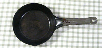 Antique Pressed Steel ACME - 1876 Patent.Small 6 inch Cowboy Camping Frying pan
