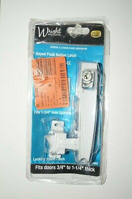 Wright Products VK333X3WH Keyed Tie-Down Push Button Latch, White (D45-724)