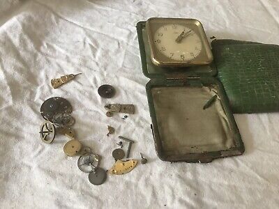 Vintage Watch Parts And A Vintage Emes  Clock. For Spares Or Repair