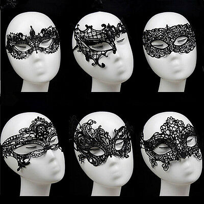 Sexy Lace Mask Masquerade Fancy Costume Party Ball Hollow Flower Eye Mask ON
