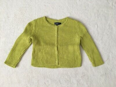 ***Gap baby girl Lime knitted cotton cardigan 12-18 months EXCELLENT!***