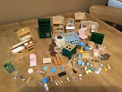 Large Mixed Collection Of Sylvanian Familys Furniture, Accessories