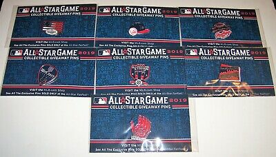 2019 All-Star Game Baseball MLB FanFest Giveaway WinCraft Pin Set 7 Cleveland