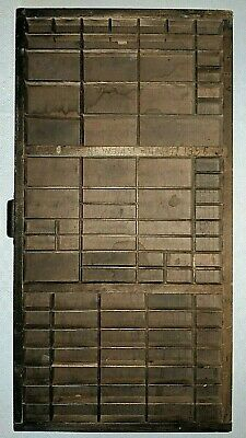 Hamilton Antique Wooden Type Setters Drawer Tray Shadowbox Display