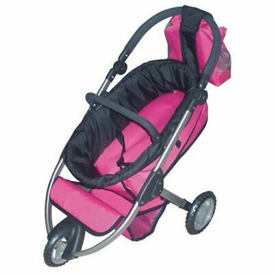 Doll Pram Buggy Doll Stroller Dolls Jogger Pink from 3 Years New without Boxed