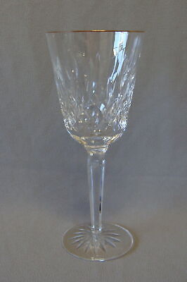 """Waterford Crystal Lismore Gold Tall Water - Wine Goblet 8 1/4"""""""