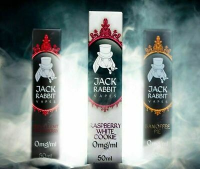 JACK RABBIT E-Liquid 50ML Short Fill 0mg 70VG/30PG Vape E-Juice free + nic shot